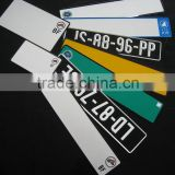 double layer license plate/car registration plate/aluminum vehicle plate
