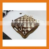 wooden carving chess game backgammon board case set