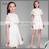 2015 very Cute Princess Lace Design Ladies White Short Gown