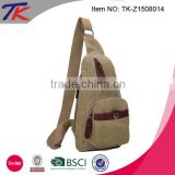 Easy carry canvas crossbody bag sling shoulder bag for men