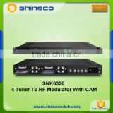 4 * DVB-S/S2 to DVB-T/DVB-C RF out Trans-Modulator with CAM                                                                         Quality Choice
