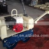 WKR700 doube drum vibrating road roller Honda GX 390 engine