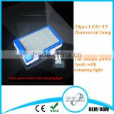 factory price full storage samples available high quality 20 led lights solar power bank for camping