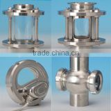 Chinese manufacture stainless steel straight sight glass/ flanged sight glass/union sight glass