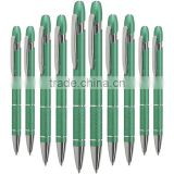 Solar Green Set of 10 GREEN Pens Corporate Orders Business Promotional Ballpoint Pens with Logo Print