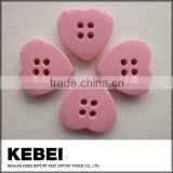 Heart-shaped button four holes pink button for shirts