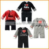 Foreign trade clothing 2015 new clothes mom and dad Tong Ha Long Sleeved cotton Jumpsuit infant climbing clothes