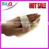 Good quality wooden back bath scrubber body makeup brush