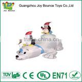 inflatable christmas sitting on polar bear,china inflatable santa claus