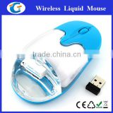 aqua filled wireless usb mouse advertising gift ideas