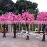 High quality silk artificial pink peach blossom tree fake tree for wedding indoor or outdoor decoration