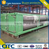 Gas Cylinder 8 pipes Container tube CNG gas station use 3 axle CNG tank semi trailer CITC brand