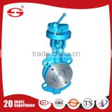 High Performance DN100 stainless steel body SS304 SS316 lever operated PTFE seat butterfly valve
