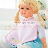 baby bib bamboo towel with TPU coating back soft bib made in china cotton toddle scarf baby jersey adjustable bib