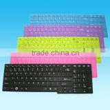 Black color with white texts Thin Silicone material Laptop Keyboard Skin tablet keyboard cover