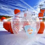 2016 hot sale in stock customize inflatable zorb bowling snow ball