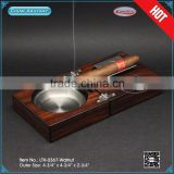 Wood Modern design multi-function folding cigar ashtray