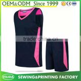 Factory price sublimation basketball uniforms 100% polyester dry fit basketball jersey