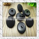 fashion garment accessory black fabric covered button
