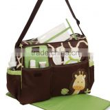 Baby Diaper Nappy Mummy Changing Bag Tote Handbag Waterproof w/Giraffe Pattern
