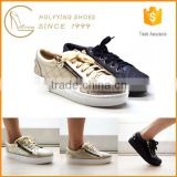 Brazil imported women designer zipper ornament PU leather loafer shoes