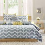 Leaf printed cotton bedding set