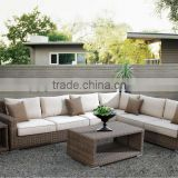 Luxury Indoor swings for living room polyrattan garden furniture rattan balcony sofa set (HL-9103)