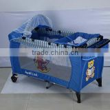 Foldable crib for baby, canopy portable baby crib, changing table baby rocking crib