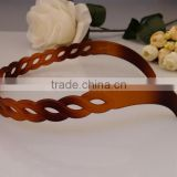 1.5cm No-slip Effortless hair band Wide brown Black Plastic Wavy Trim Hair Hoop Headband for Ladies