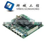 1U rack network server firewall DDR3 2Gb RAM server Atom D525 4 Lan rack network router motherboard