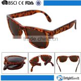 Latest models women cheap wholesale fashion promotion custom plastic logo printed female folding sunglasses