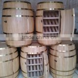 Individual barrel racks for bar, barrel showcase wooden cabinets for wine, cherry wood wine rack