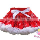 Wholesale children clothes 2016 red and white tutu skirt for baby girl wedding dress ruffle skirt unique baby girl names images