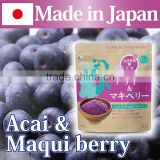 Popular and Nutritious iron contains Acai and Maqui Berry powder made in Japan