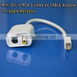 Mini dvi to usb cable Mini DVI to RCA S-Video AV CABLE Adapter dvi to dp converter for Apple Macbook DVI to tv converter