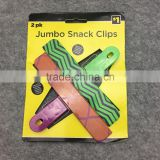 Set of 2 pieces Plastic Snack Bag Clips with Hanging Hole for food