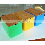 wholesale large bamboo storage boxes with removable corver, bamboo box with color painting