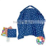 Blue White Stars Baby Mum Breastfeeding Nursing Cover Up Udder Covers Cotton Blanket Shawl
