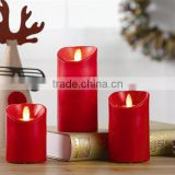 S/3 Battery Powered Dancing Flame LED Wax Candles Moving Flame LED Candles