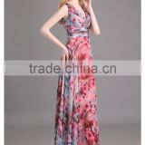 Wholesale Top Quality Crystal Beaded Chest Cap Sleeves Evening Dress