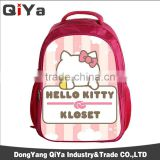Wholesale Hello Kitty Cartoon Printing Polyester Children Students Backpack School Bags For Girls