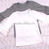 Cheap Bulk Blank Organic Kids Long Sleeve T-shirts Casual Wear Organic Cotton T shirts Wholesale
