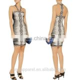 wholesale fashion cheap women's clothing sexy white halter neck tight mini bandage dress for women