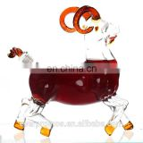 Super Clear Sheep Animal Shaped Decorative Corked Whisky Rum Vodka Glass Bottles Wholesale / Empty Horse Vodka