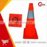 Hi Vis Roadway Folding Small Traffic Cones For Road Safety KFWT-009-60