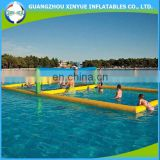 0.9mm PVC tarpaulin giant inflatable beach volleyball court for water park