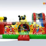 Inflatable jump slide combo/inflatable bouncer with slide/bounce castle