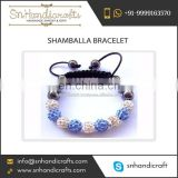 Elegant Design Attractive Look Shamballa Bracelet for Wholesale Purchase