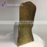 C461A gold sequin fabric spandex chair covers for weddings