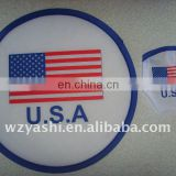 U.S.A.flag promotional frisbee ,polyester frisbee